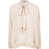 Silk Blouse with Bow - BO.BÔ - Srajce - kratke -