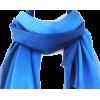 Silk Cotton Scarf - Blue Gradient - Scarf - $16.95
