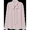 Silk Tie Blouse - Shirts -
