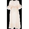 Silk ruffled sleeve kimono - Obleke -