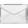 Silver Enveloppe Clutch, Rebecca Minkoff - Clutch bags -