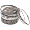 Silver bangle set (Venus) - Bracelets - $20.00