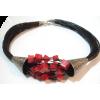 Silver black cord necklace - Necklaces - £63.09  ~ $83.01