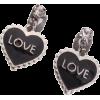 Silver. Black. Hurts. Love. - Earrings -