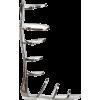 Silver Gladiator Sandal - Sandale -