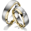Silver & Gold Wedding Rings - Pierścionki -