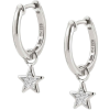 Silver Star Earrings - Aretes -