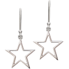Silver Star Earrings - Naušnice -