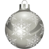 Silver and White Christmas Ornament - Artikel -