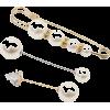 Simple Long Rhinestone Pearl Suit Brooch Female Creative Trend Anti-fade Cuff Pi - Other jewelry -
