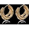 Simple Multi-layered C-shaped Alloy Hoop Earrings Nhpf147199 - Earrings -