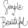 Simple is Beautiful - Testi -