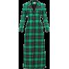 Single-breasted tartan coat - Kurtka -