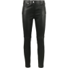 Skinny Leather Trousers - Leggings -