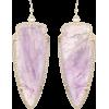 Skylar Earrings in Amethyst - Kolczyki -