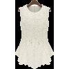 Sleeveless White Lace T Shirt - Camisas - $44.00  ~ 37.79€