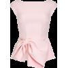 Sleeveless Large Bow Top by Safiyaa - Camisa - curtas -