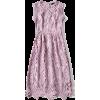 Sleeveless Midi Dress - sukienki -