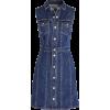 Sleeveless denim mini dress - Vestidos -