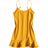 Slip Ruffles Mini Dress - sukienki -