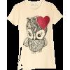 glitter owl - T恤 -