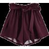 Smocked Belted High Waisted Shorts - Hlače - kratke -