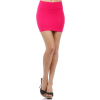 Smooth Wide Banded Waist Comfy Stretch Seamless Fitted Tube Style Mini Skirt - Skirts - $17.99