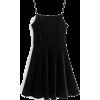 Smooth velvet leather strap dress - sukienki - $27.99  ~ 24.04€
