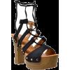 Sobeyo Lace Up Block Heel Platform Sanda - Uncategorized - $48.00