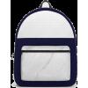 Society6 Backpack Marble White Blue - Backpacks - $69.99