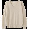 Soft Cashmere V-neck Knit - Pullovers -