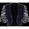 Soho Lace Bolero Jacket in Navy - Bolero -