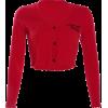 Solid color V-neck loose short contrast - T-shirt - $19.99  ~ 17.17€