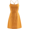 Solid color strapless halter strap dress - Dresses - $25.99