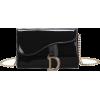 Solid patent leather shoulder messenger - Messenger bags - $22.99