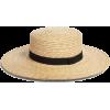 Something Navy Straw Boater Hat - Hat -