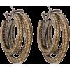 Sonic topaz & rhodium-plated hoop earrin - Brincos -