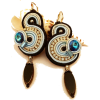 Soutache earrings. Soutache Jewelry. Sta - Orecchine -