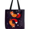 Space fox tote by Maike Vierkant - Travel bags -