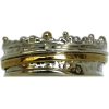 Spinner ring silver and gold - Items - £99.00  ~ $130.26
