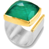 Square Agate Open Ring - Rings -