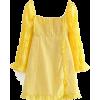 Square Lace Short Skirt Slim Fit Long Sl - Dresses - $35.99