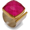 Square Pink Open Ring - Кольца -
