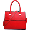 Square red  tote handbag - Hand bag -