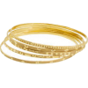 Stamped Gold Bangles - ブレスレット -