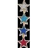 Star Drop Earring - Aretes -