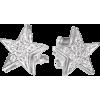 Star Studs Diamond Earrings, 14K solid g - Earrings -