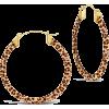 Sterling Forever 50mm Leopard Acetate Ho - Earrings - $68.00