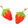 Sticky strawberry earrings - Earrings -