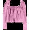 Stine Goya Gia Cropped Crepe Tank Top - Long sleeves shirts -